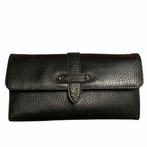 MATT & NAT black vegan leather zip clutch wallet